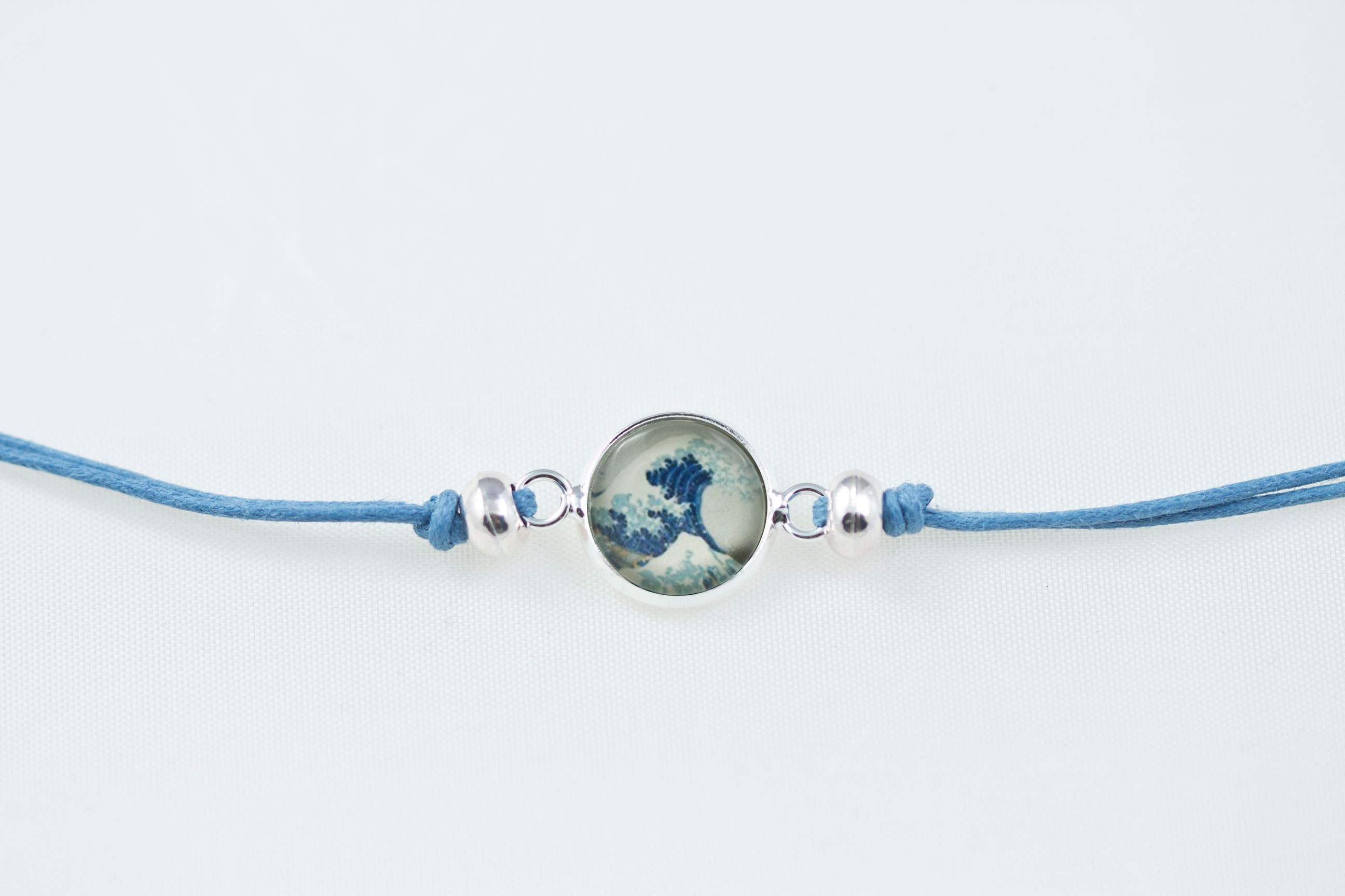 silver tennis pin light link bracelet gemstone sapphire blue sterling