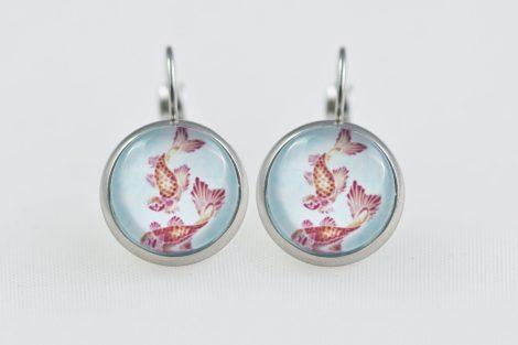 Earrings dangle stainless steel Koi fish