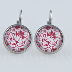 Earrings dangle stainless steel Red bulgarian