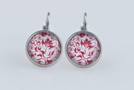 Earrings dangle stainless steel Red bulgarian