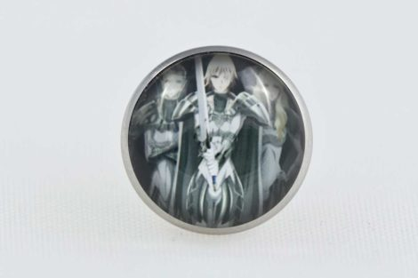 Chica Manga Claymore pin characters stailess steel