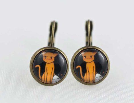Chica-Manga-Fruits-Basket-Earrings-dangle-Antique-bronze-Tohru-&-Kyo