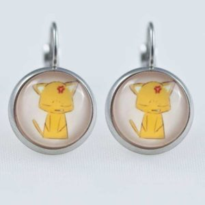 Chica-Manga-Fruits-Basket-Earrings-dangle-Stailess-steel-Kyo