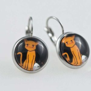 Chica-Manga-Fruits-Basket-Earrings-dangle-Stailess-steel-Tohru-&-Kyo
