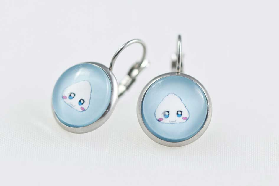 Chica Manga Fruits Basket Earrings Dangle Stailess Steel Tohru