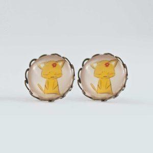 Chica Manga Fruits Basket Earrings stud waves Antique bronze Kyo