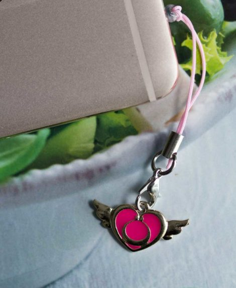 Chica Manga Mobile strap sailor moon pink heart