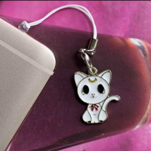 Chica Manga Mobile strap sailor moon white cat artemis