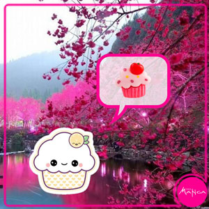 Chica-Manga-Sakura-cupcake-butterfly-clasp-pin