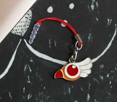 Chica Manga mobile strap Cardcaptor Sakura Clam Sealing Wand bird form
