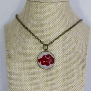 Chica Manga round bronze necklace Akatsuki Cloud