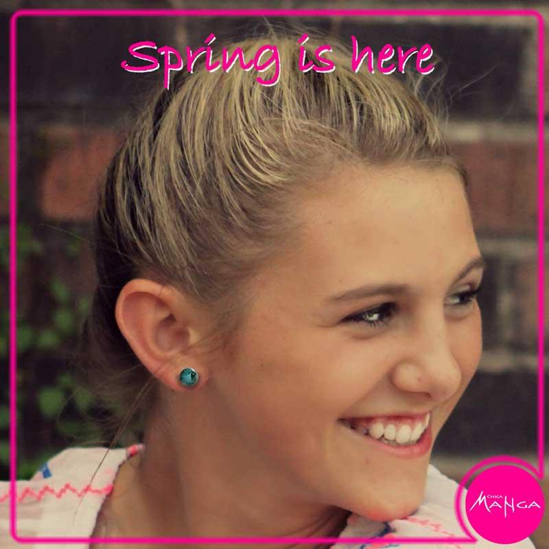 Spring Manga Eyes earrings